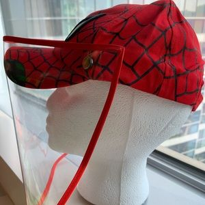 NEW KIDS SPIDER-MAN BASEBALL CAP WITH FACE SHIELD